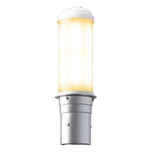 LEDポールライト 《LEDioc AREA TOLICA-L》 水銀ランプ400W相当 防雨形 電球色 電源ユニット別置形 メタリックシルバー