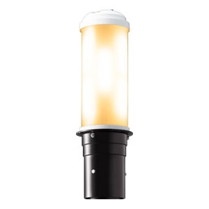 LEDポールライト 《LEDioc AREA TOLICA-L》 水銀ランプ300〜250W相当 防雨形 電球色 電源ユニット別置形 ダークブラウン