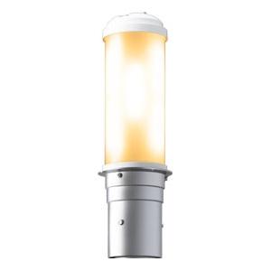 LEDポールライト 《LEDioc AREA TOLICA-L》 水銀ランプ300〜250W相当 防雨形 電球色 電源ユニット別置形 メタリックシルバー