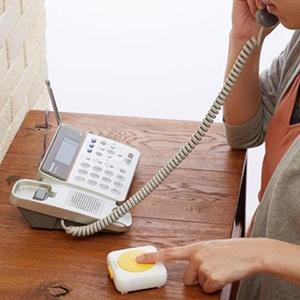 迷惑電話お断りピンポン 電池式 音量78dB 両面テープ・木ネジ・取付板付 画像2