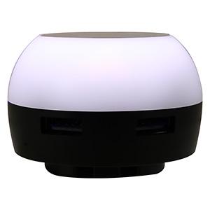 ランプAC充電器 USB2ポート 最大合計2.1A ホワイト