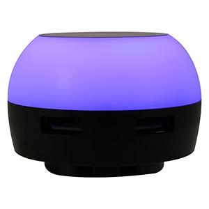 ランプAC充電器 USB2ポート 最大合計2.1A ブルー