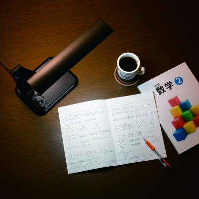 調光機能付 8W LED学習スタンド ブラック 画像2