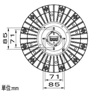 【受注生産品】高天井用LED照明器具 丸形 直付タイプ 水銀ランプ400W相当 連続調光タイプ 配光角75°昼白色 画像2