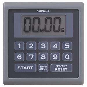 業務用デジタルタイマー 防滴仕様 時計機能付 ブラック