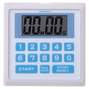 業務用デジタルタイマー 防滴仕様 時計機能付 ホワイト
