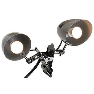 防雨型クリップライト ミニクリプトン球40W×2灯 口金E17