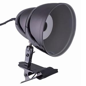 【まとめ買い 4台セット】防雨型クリップライト 電球別売 口金E26 アーム長75mm