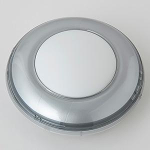 【まとめ買い  10台セット】LEDミニプッシュライト 乾電池式 高輝度白色LED×1灯 シルバー