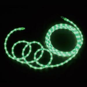 LEDソフトネオン 乳白ロッドタイプ 40mmピッチ 長さ4m 緑