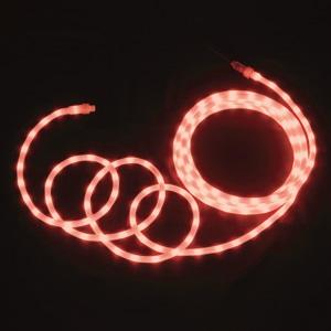 LEDソフトネオン 乳白ロッドタイプ 40mmピッチ 長さ4m 赤