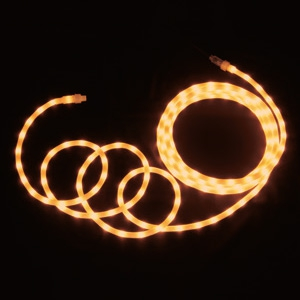 LEDソフトネオン 乳白ロッドタイプ 40mmピッチ 長さ8m 黄