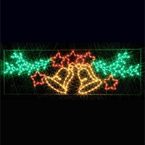 LEDジョイントモチーフ 全点滅タイプ ベルと星