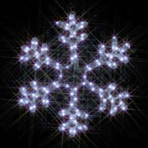 LEDジョイントモチーフ 全点滅タイプ 雪の結晶(小・白)