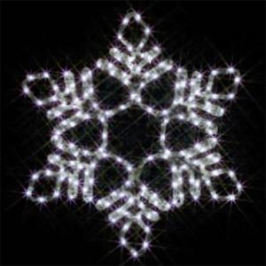 LEDジョイントモチーフ 全点滅タイプ 雪の結晶(中・白)