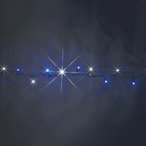 LEDストリング ハイグレードタイプ 屋外用 長さ2.5m 白・青